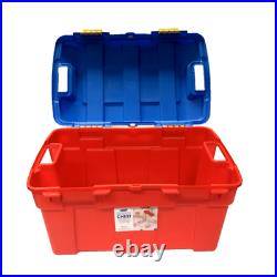 High Grade 40Lt Plastic Kids Toy Storage Box with Clip-On Lid