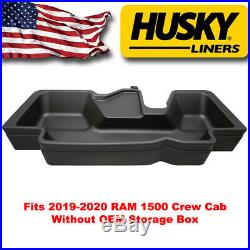 Husky Under Seat Storage Box fit 2019-2020 RAM 1500 Crew Cab without factory box