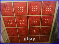 IKEA KALLAX Birch Effect 16 Cube Storage Unit With 16 Red Plastic LEKMAN Boxes