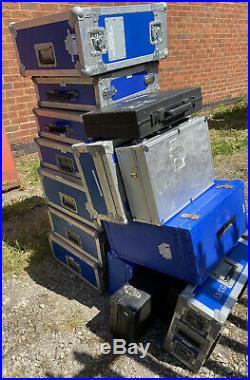 Job Lot Flightcases Storage Box Case Transport Box 19 Rack Plastic X 15