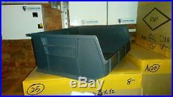 Job Lot Of 100 Lin Bins Storage Plastic Boxes Garage Storage Grey Size 8
