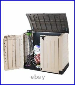 KETERStore-It Out ARC Outdoor Plastic Garden Storage Box Bike Shed 1200L