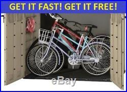 KETER EXTRA LARGE OUTDOOR STORAGE SHED Garden Furniture Box Bikes Wheelie Bin S2