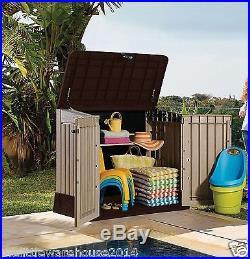 KETER Midi Waterproof Garden Storage Store Box Medium Shed Outdoor Tool Lockable