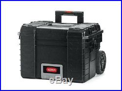 KETER Rigid System Complete Wheeled Professional Tool Storage Set of Tool Boxes
