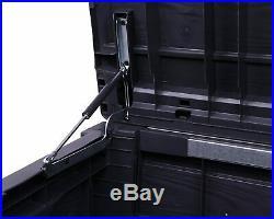 Keter Brightwood Anthracite XL Size 454L Waterproof Garden Storage Bench Box