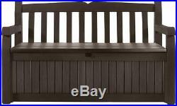 Keter Eden 70 Gallon All Weather Outdoor Patio Storage Garden Bench Deck Box New