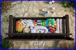Keter Eden 70 Gallon Storage Bench Deck Box For Patio Decor And Outdoor Brown