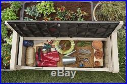 Keter Eden Outdoor Storage Bench-Garden Patio Furniture 265 Litre Sofa Seat Box