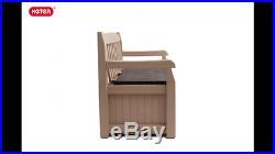 Keter Eden Outdoor Storage Box Weather Resistant Plastic Bench Garden Furniture