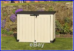 Keter Extra Large Outdoor Garden Patio Storage Box Utility Cabinet Cupboard New