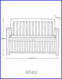 Keter Garden Storage Bench Plastic Waterproof Storage Box 227L FREE PP