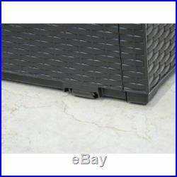 Keter Garden Storage Box Capri 302L Outdoor Entryway Trunk Chest Bench Box