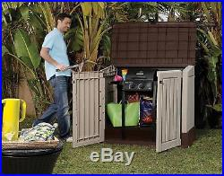 Keter Garden Storage Box Outdoor Shed Garden Furniture Bike Shed Tools BBQ Equi