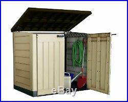 Keter Garden Tools Storage Box Plastic Outdoor Wheelie Bin Bike Shed Store 1200L