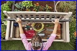 Keter Graphite Grey Eden Bench Outdoor Plastic Storage Box Garden Furniture