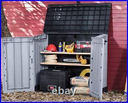 Keter Large Storage Shed Garden Outdoor Bin Tool Store Lockable Waterproof Unit