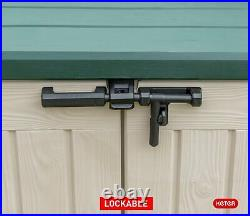 Keter Max 1200L Garden Storage Shed Large Box Lock Outdoor Waterproof Plastic