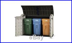 Keter Outdoor 2000L Garden Patio Storage Box, Container Large Mini Shed Unit New