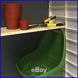 Keter Plastic Garden Outdoor Storage Box Shed, Durable Bins Bike Tool Shed Max
