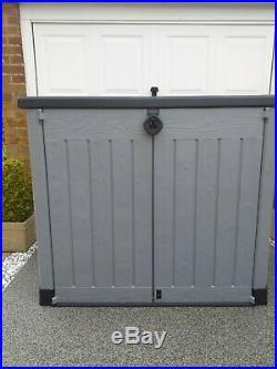 Keter Store It Out ACE Garden Stoage/Wheelie Bin Box 123h x 145w x 80d/cm