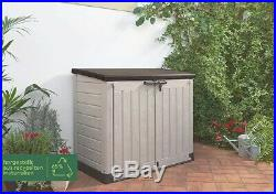 Keter Store It Out Max 1200L Twin Doors Storage Shed Boxed Beige & Brown