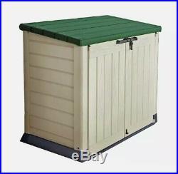 Keter Store It Out Max Garden Lockable Storage Box 1200 Litre Beige Green