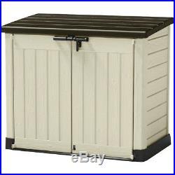Keter Store It Out Max Plastic Garden Storage Box Wheelie Bin Store