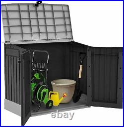 Keter Store It Out Midi Box Outdoor Plastic Garden Storage Shed Black and Grey