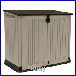 Keter Store It Out Midi Garden Storage Box 845l Beige Brown