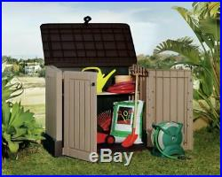 Keter Store It Out Midi Outdoor Plastic Garden Storage Shed Box Beige Brown 845L