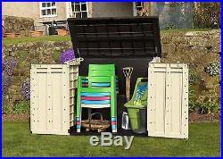 Keter XL Outdoor Plastic Garden Storage Shed Tools Furniture Box Wheelie Bins