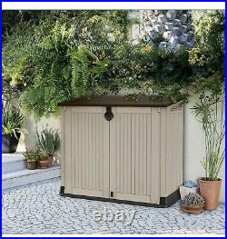 Keter XL Store It Out Midi Garden Storage Box Shed Keter Bin Box Stor Max(Beige)