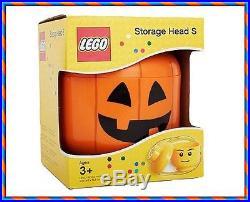 LEGO Storage Head Small Size Pumpkin Brick Container / Bin Box