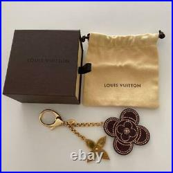 LOUIS VUITTON Bag Charm Step-free M 66973 Gold Dark brown withstorage bag&box Auth