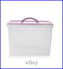 Large 12.6L Clear Plastic Storage Box Airtight Kitchen Food Container Clip Lock