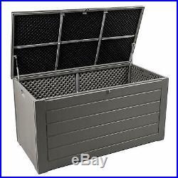 Large 680L Outdoor Garden Storage Cushion Box Plastic Utility Chest Waterproof