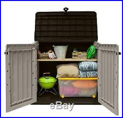 Large Keter Box Outdoor Plastic Garden Home Storage Shed Tools New