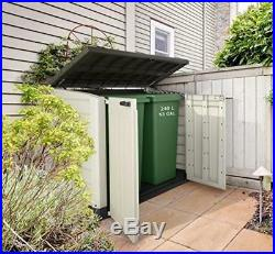 Large Outdoor Garden Storage Shed Bin Box Container Home Plastic 1200L Resistant