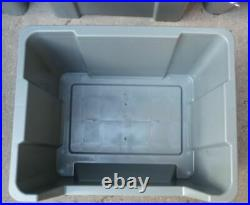 Large Plastic Storage Bins Boxes stackable space bin container box X 10