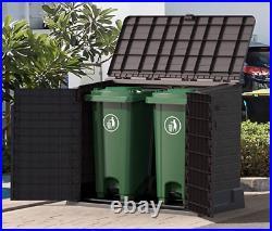 Large Storage Shed Garden Outdoor Bin Tool Store Lockable Waterproof Unit