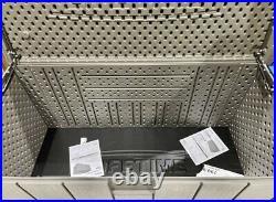 Lifetime Heavy Duty Outdoor Storage Deck Box 568 LITRE XL GARDEN / PATIO NEW