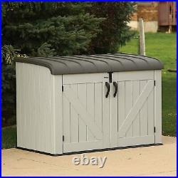 Lifetime Outdoor Garden Patio Storage Unit Large Plastic Shed DIY Tools 6x3ft