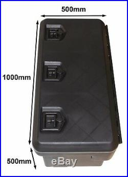 Locking Heavy Duty Outdoor Sealed Plastic Storage Box Caravan Truck Trailer Box