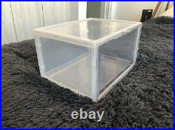 Magnetic Shoe Storage Box Drop Side/Front Sneaker Case 12pk Stackable XL