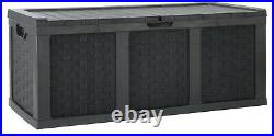 McGregor 634L Weatherproof Lockable Rattan Storage Box Black