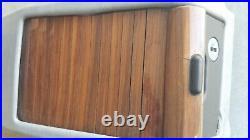 Mercedes W124 Gray Console Storage Box withZebrano Wood 86-95 300E E320 300TE 300C