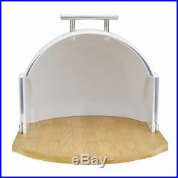 Modern Bread Bin Food Storage Box Loaf Roll Large Kitchen White Bamboo Gift Wood