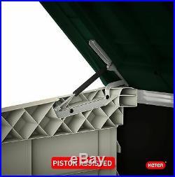 NEW Large XL Outdoor Plastic Garden Storage Shed Tools Furniture Box Wheelie Bin