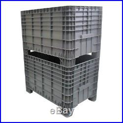 NEW Strong Industrial Plastic Euro Pallet Storage Box Boxes 1200 x 800 x 800mm
